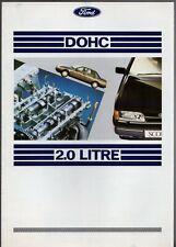 Ford 2.0 DOHC Engine 1989 UK Market Salesmans Guide Brochure Sierra Granada