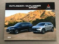 2019 Mitsubishi Outlander and sport 28-page Original Car Sales Brochure Catalog