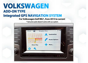 Volkswagen Golf Mk7 GPS Navigation retrofit latest GPS Map add on Kit
