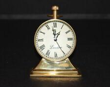 Vintage table top Brass Clock desk top antique collectible watch decorative item