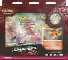 POKEMON CHAMPIONS PATH PIN COLLECTION x 1 - MOTOSTOKE GYM - FACTORY SEALED NEW