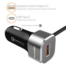 * BlitzWolf 5V 3A QC 3.0 USB Type C BW-C9 Dual Ports Car Charger 1M Cable Grey*