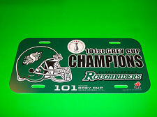 Saskatchewan Roughriders Football Team 101 Grey Cup 2013 Champions License Plate