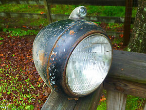 Antique Vintage Headlight with Jewel Chrysler DeSoto Plymouth Cadillac Art Deco