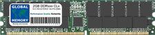 2 Go DDR 266/333/400MHz 184-PIN ECC Inscrit Rdimm Serveur/station de travail de Mémoire
