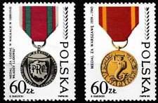 Polen postfris 1989 MNH 3225-3226 - Orde en Medailles