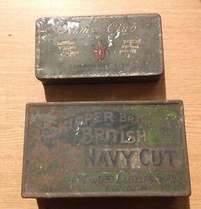 VINTAGE TOBACCO TINS RICHARD LLOYD & SONS Skipper Brand Navy Cut & Army Club