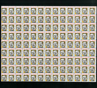 US Unusual Mint Political Nixon Now Partial Stamp Sheet Of 117