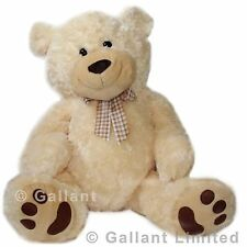GIANT EXTRA LARGE 80CM (100CM) SOFT JUMBO STUFFED CUDDLY POLAR BIG TEDDY BEAR