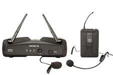 PROEL WM202H UHF sistema microfono lavalier +headset wireless x live karaoke ecc