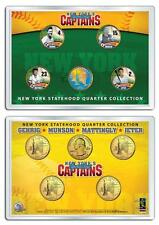 YANKEES CAPTAINS 5-Coin Set Colorized NY Quarters JETER MUNSON GEHRIG MATTINGLY