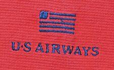 Tri-Mountain US Airways Flag Mens Polo Shirt L Golf Moisture Wicking Breathable