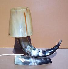 Lampe de bureau en corne de bovin déco bureau fait main desk lamp