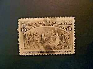 USA 1893  $.10 Black Brown Columbian #237 Used - See Description & Images