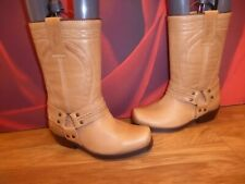 *35* JOHNNY BULLS Western brown Tan leather cowboy boots EUR 37 UK 4