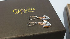 Welsh Clogau Sterling Silver & Rose Gold Cariad Earrings RRP £229 Type 2