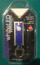 MICRO ULTRA-LIGHT LED KEY CHAIN KEY RING FLASHLIGHT WHITE LIGHT ~ BRAND NEW