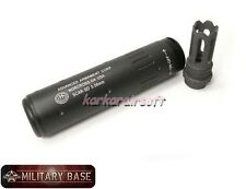 Airsoft SCAR Flash Hider CCW w/ 145mm AAC Style Quick Detach Barrel Extension