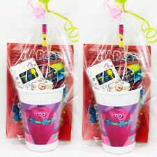 6x MINI TROLLS PARTY FOR CHILDREN/'S PARTY BAGS FUNKY COLOR MIXTURES UK SLR