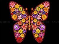 PAINTING BUTTERFLY WINGS INSET FLOWERS PRETTY COLOURFUL COOL POSTER BMP10346