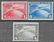 1933 Germany  Michel 496,497,498 Chicago's World's Fair MH
