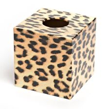 Leopard Tissue Box Cover wooden handmade