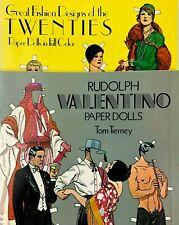 Rudolph Valentino & Fashion Designs of the Twenties Paper Dolls Lot Tom Tierney
