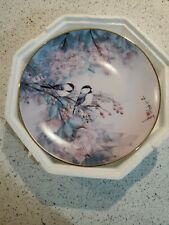Song Of The Cherry Blossom Birds Franklin Mint By John Cheng 8'' Plate