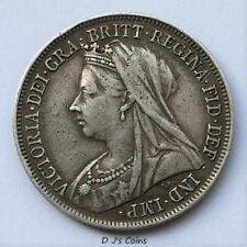 More details for 1898 queen victoria silver .925 shilling coin. high grade with good detail.
