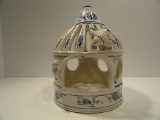 Vintage Ceramic Bird Cage / Candle Lantern