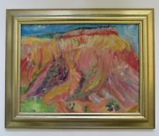 Noel Priestley New Mexico Plein Air Landscape Oil Painting Abiquiu Cliffs/Mesa