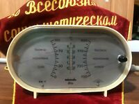 RARE Device BAROMETER Vintage Soviet USSR Original HYGROMETER THERMOMETER