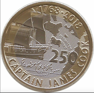2018 £2 Two Pound Coin Royal Mint Captain James Cook Brilliant Uncirculated RARE