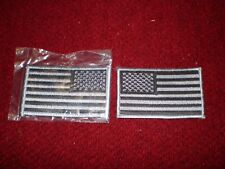USAF Flag Patches Silver and Grey Subdued Forward and Reverse circa 2004