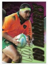 1996 Futera Rugby Union NO BARRIERS (NB5) Willie OFAHENGAUE Sample