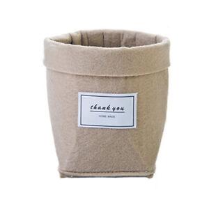 Felt Plant Grow Bag Succulents Basket Home Office Desktop Decor Universal