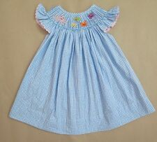 Ocean Life Beautiful Smocked dress  (Fish, Octopus, & Jellyfish) Size 6