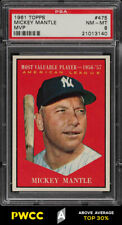1961 Topps Mickey Mantle MVP #475 PSA 8 NM-MT (PWCC-A)