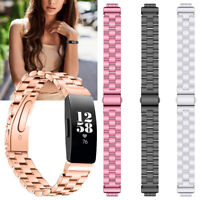 Stainless Steel Metal Strap Watch Band Wristband for Fitbit Inspire/Inspire HR