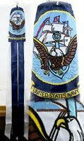"60"" U.S. Navy Ship Embroidered Nylon Wind Sock Windsock"