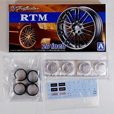 "Aoshima 1/24 Trafficstar RTM 20"" Wheel Rims & Tire For Plastic Models 5371 (38)"