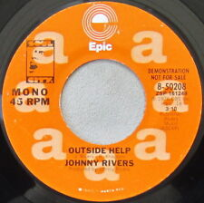Johnny Rivers - Outside Help, Vinyl, 45rpm,1976, Epic - 8-50208, Near Mint