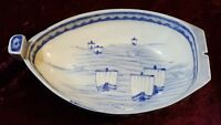 Japanese Arita ware vintage Victorian Meiji period oriental antique boat dish B