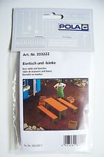 Pola G scale Beer Table & Benches : MODEL KIT # 333222 (Ships from Chicagoland)