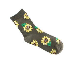 Women Girls Sunflower Short Sock Creative Art Socks High Quality Cotton Tide Sox