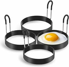 Eggs Rings, 4 Pack Stainless Steel Egg Cooking Rings, Pancake Mold for frying