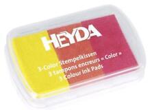 HEYDA Stempelkissen 3farbig 3Color gelb orange rot Stempelfarbe Gelbtöne Rottöne