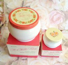 Vintage Avon To A Wild Rose - Cream Sachet, Skin Softener, Empty With Boxes