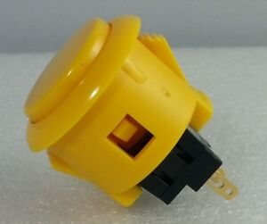 Japan Sanwa Yellow Start Buttons x 1 pc OBSF-24-Y Video Arcade Parts