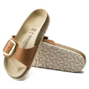 New Women's Birkenstock Madrid Big Buckle Sandals Size US 7-7.5 Euro 38 Brandy